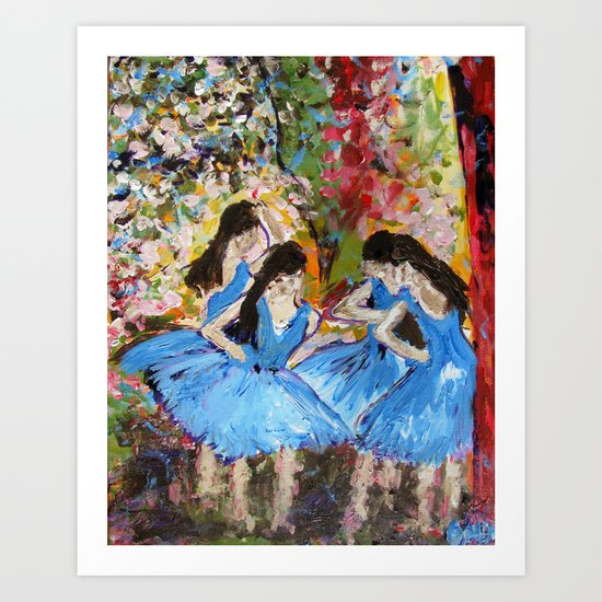 Blue Dancers Art Print