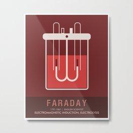 Science Posters - Michael Faraday - Physicist, Chemist Metal Print
