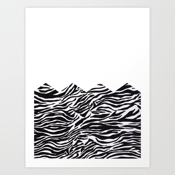 half zebra Art Print