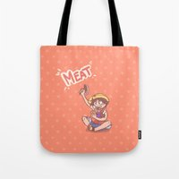 meat Tote Bags featuring MEAT! by Kessi