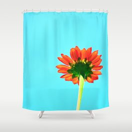 Flower orange 6 Shower Curtain