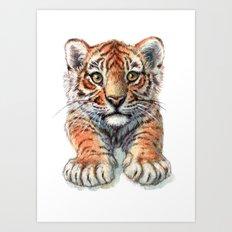 Playful Tiger Cub 907 Art Print