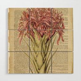 Book Art Page Pink Flower Wood Wall Art