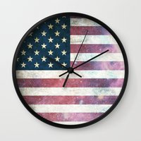 patriotic Wall Clocks featuring PATRIOTIC by alfboc