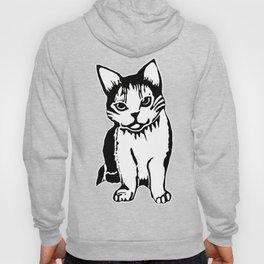 Black and White Cat Art Hoody