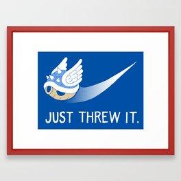Blue Shell Athletics Framed Art Print