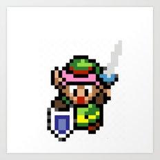 Legend of Zelda - Link Art Print