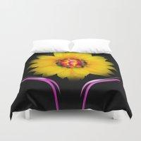 sunflower Duvet Covers featuring Sunflower by Walter Zettl