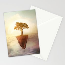 Floating tree Stationery Cards