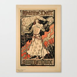 retro jeanne darc sarah bernardt            poster  Canvas Print