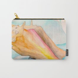 Conch Shell Watercolor Carry-All Pouch