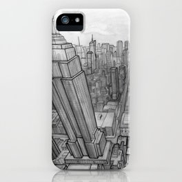 New York (Black & White) iPhone Case