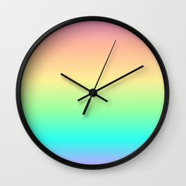 Pastel Rainbow 2 Wall Clock