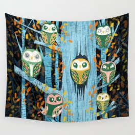 Overnight Owl Conference Wall Tapestry