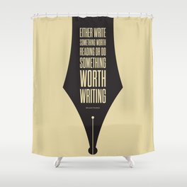 Lab No. 4 - Reading and Writing Benjamin Franklin Quotes Poster Shower Curtain