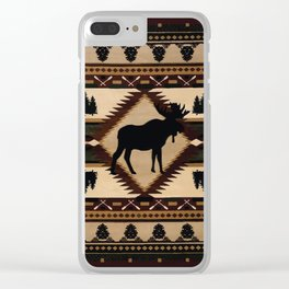 American Native Pattern No. 197 Clear iPhone Case
