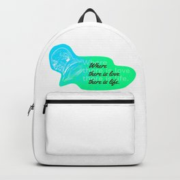 Mahatma Gandhi Quotation Where there is love there is life Backpack