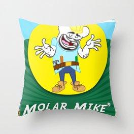 Molar Mike Throw Pillow