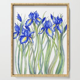 Blue Iris, Illustration Serving Tray