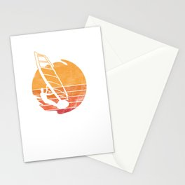 Wind Surfing Water Sports Sailing Water Activity Sailboarding Wind Surfers Gifts Stationery Cards