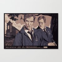 true detective Canvas Prints featuring TRUE DETECTIVE by Mike Wrobel