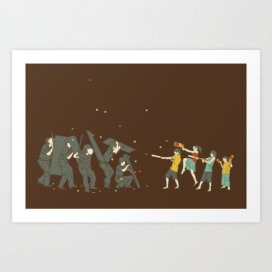 The children are revolting Art Print