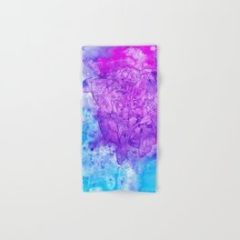 Stained Glass Purple & Turquoise Hand & Bath Towel