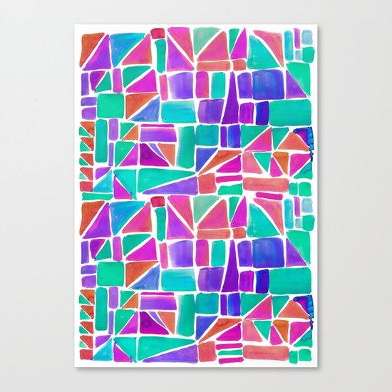 Watercolour Shapes Canvas Print