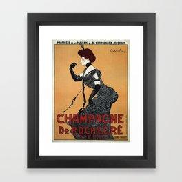 Vintage poster - Champagne De Rochegre Framed Art Print