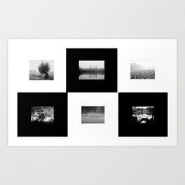 NRW Landscapes in 6 Times Black & White Art Print
