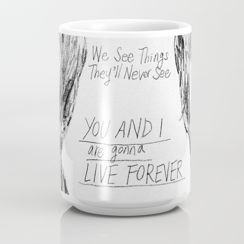 Noel and Liam (With Live Forever Lyrics) Coffee Mug