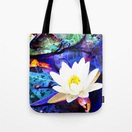 Electrifying Lotus Tote Bag