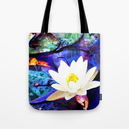 Electrifying Lotus Tote Bag