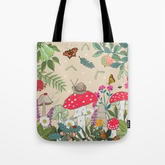 Toadstools in the Woods Tote Bag