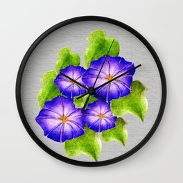 Morning Glory Design Wall Clock