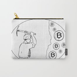 Bitcoin Miner Cryptocurrency Drawing Carry-All Pouch