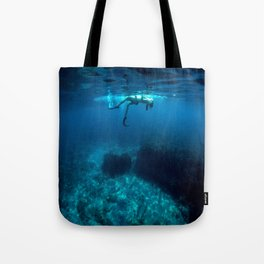 St Tropez Sea Two Tote Bag