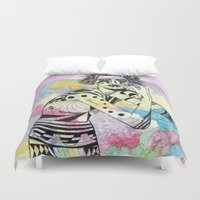 aquarius Duvet Covers featuring Aquarius by Heaven7