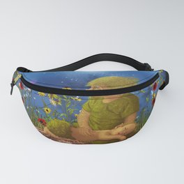 Cute pixie with sleeping baby in the night Fanny Pack