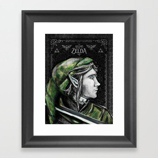 Legend of Zelda - Link The Proud Hylian.  Framed Art Print