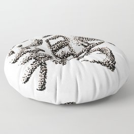 The Zodiac 12 - Rooster Floor Pillow
