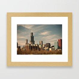 Windy Skyline Framed Art Print