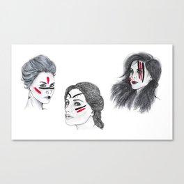 Warrior Women Canvas Print