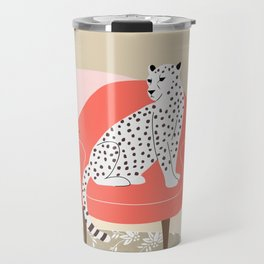 Leopard and armchair Travel Mug