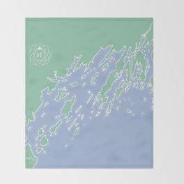 Casco Bay Maine USA Throw Blanket