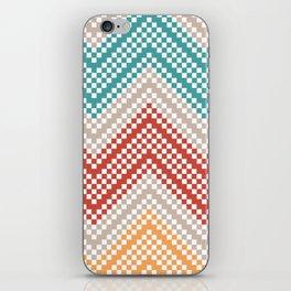 C13 pattern series - pixel chevron iPhone Skin