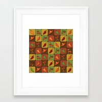 mexican Framed Art Prints featuring Mexican Squares by Matt Andrews