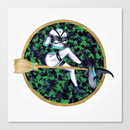 Discombobulated Witch Canvas Print