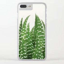 zebra haworthia Clear iPhone Case
