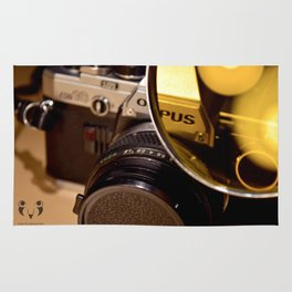 Old Camera with Magnifying Glass Rug